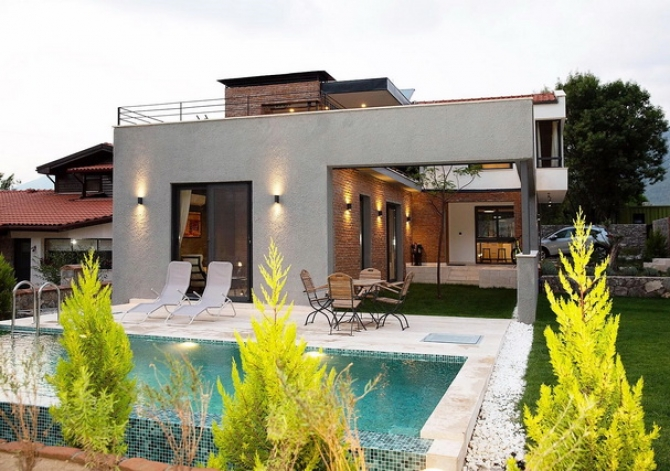 3 Bedroom Modern Concept Duplex House with Private Pool