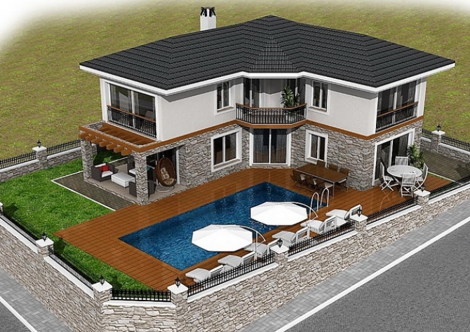 3 Bedroom Detached Duplex Villa with Private Pool For Sale