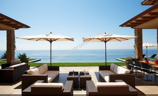 Beautiful pool area with stunning views