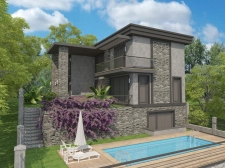 Private 3 Bedroom Detached Villa with Sea View in Faralya