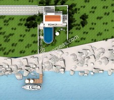 Kas Waterfront Villa on Meis Side with Jetty for sale