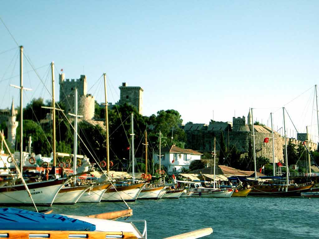Bodrum Castle from behind the marina