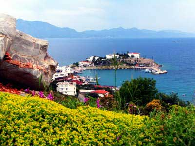Datca Village is in a sunsoaked spot by the sea.