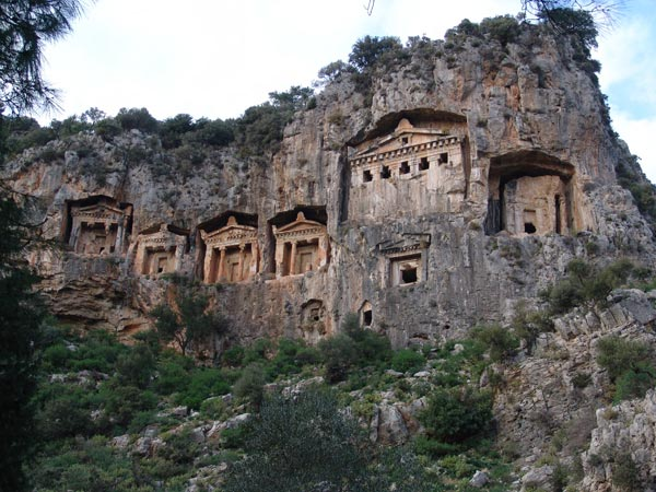 Fethiye King Tombs carved in Mountains