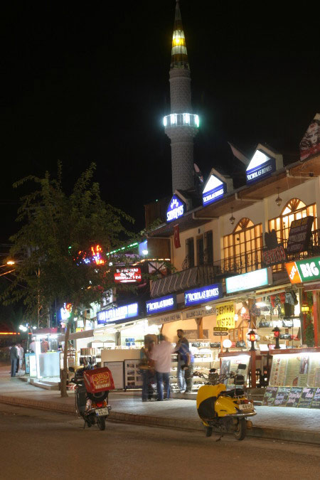 Fethiye Town in Night