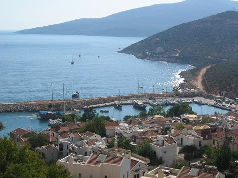 Kalkan harbour by day