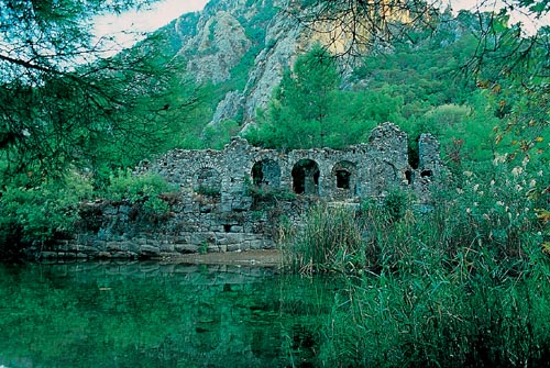 olympos ancient city ruins