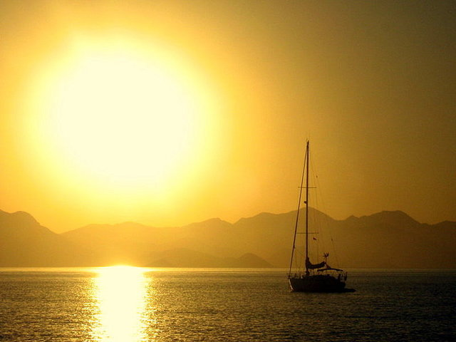 The sun sets over Datca.
